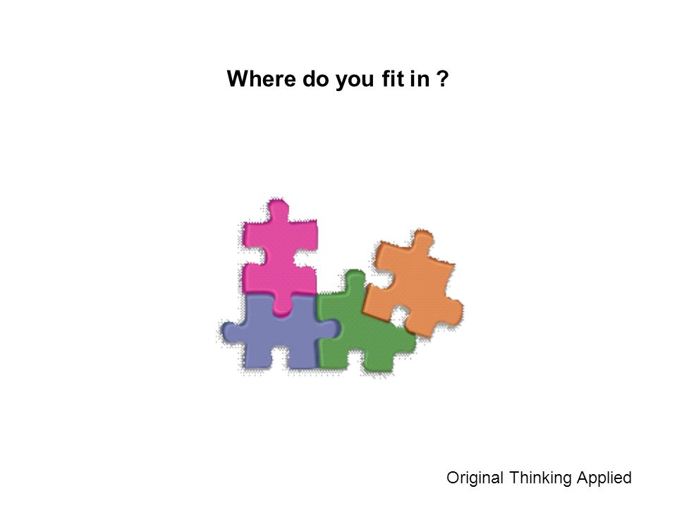 Where do you fit in ? Original Thinking Applied