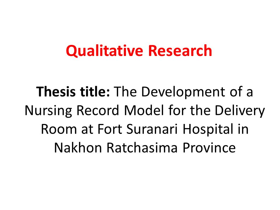 thesis of nursing research