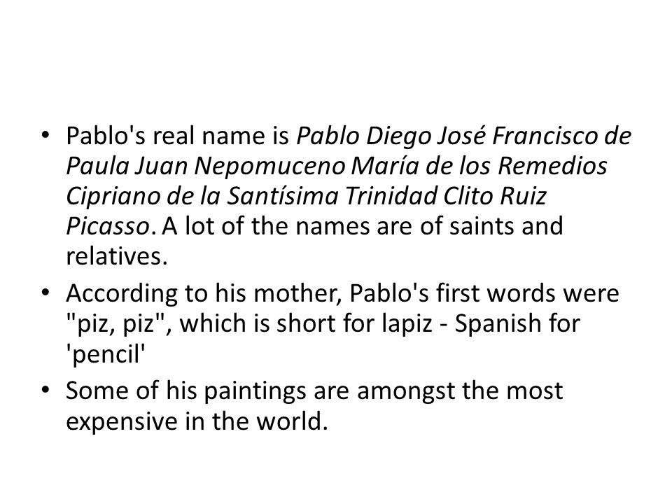 Pablo Picasso Pablo Picasso Pablo Picasso was born more than 120 ...