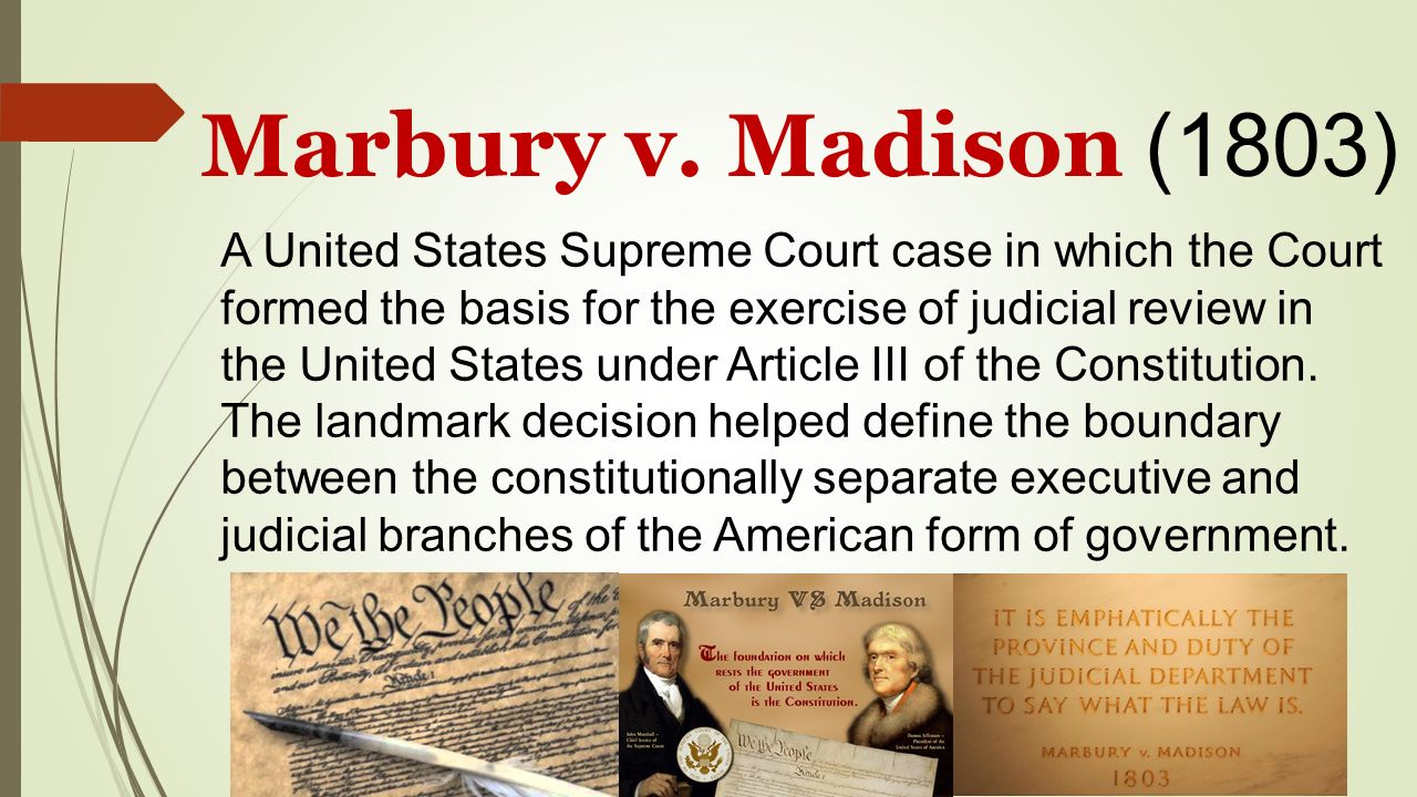 case brief summary marbury v madison