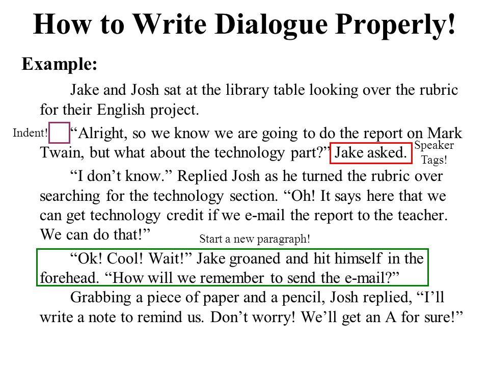 how to write properly