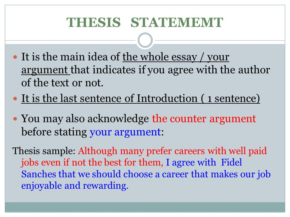 essays agreeing with For 'agree or disagree' essays, do you think you should give both sides of the argument or just one side the answer is that you can do either a) essay structure for one side of the argument: introduction: topic + your opinion (either agree or disagree) first idea to support your opinion second.
