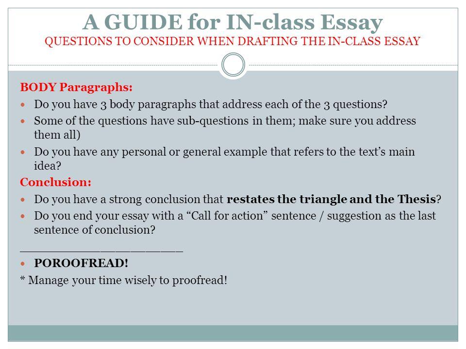 Class Essay