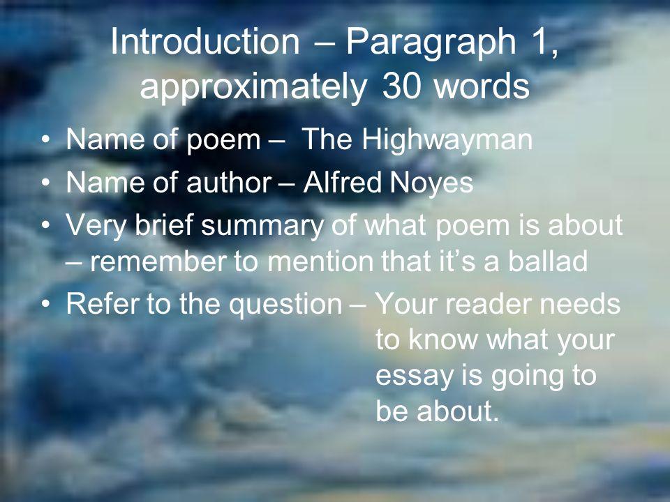 critical essay on the highwayman poem