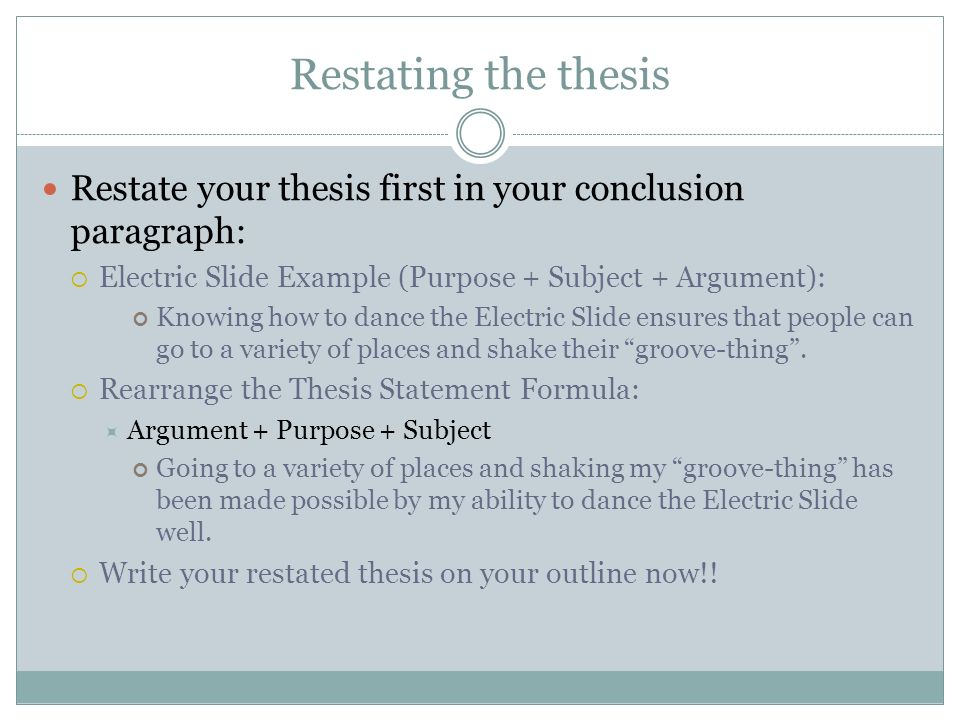 restating thesis in conclusion paragraph