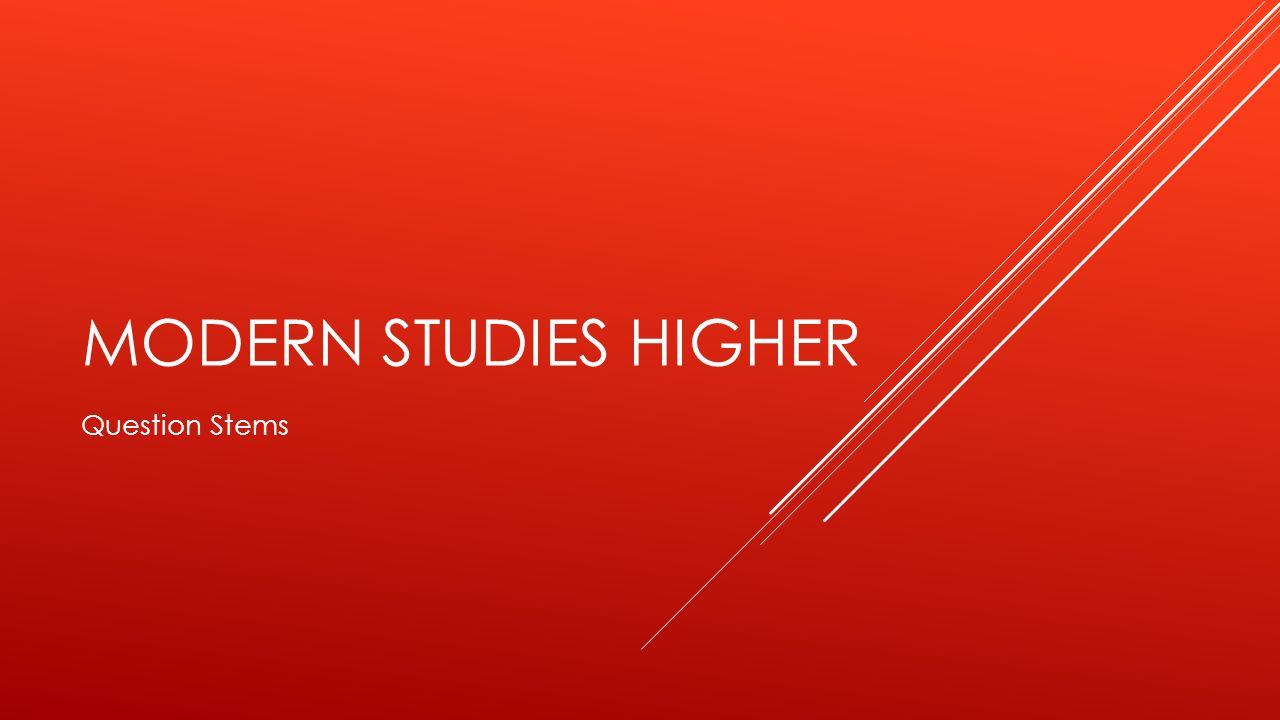 Higher modern studies essays