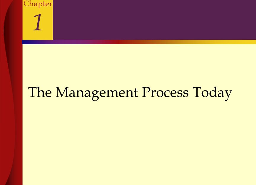 The Management Process Today Chapter 1