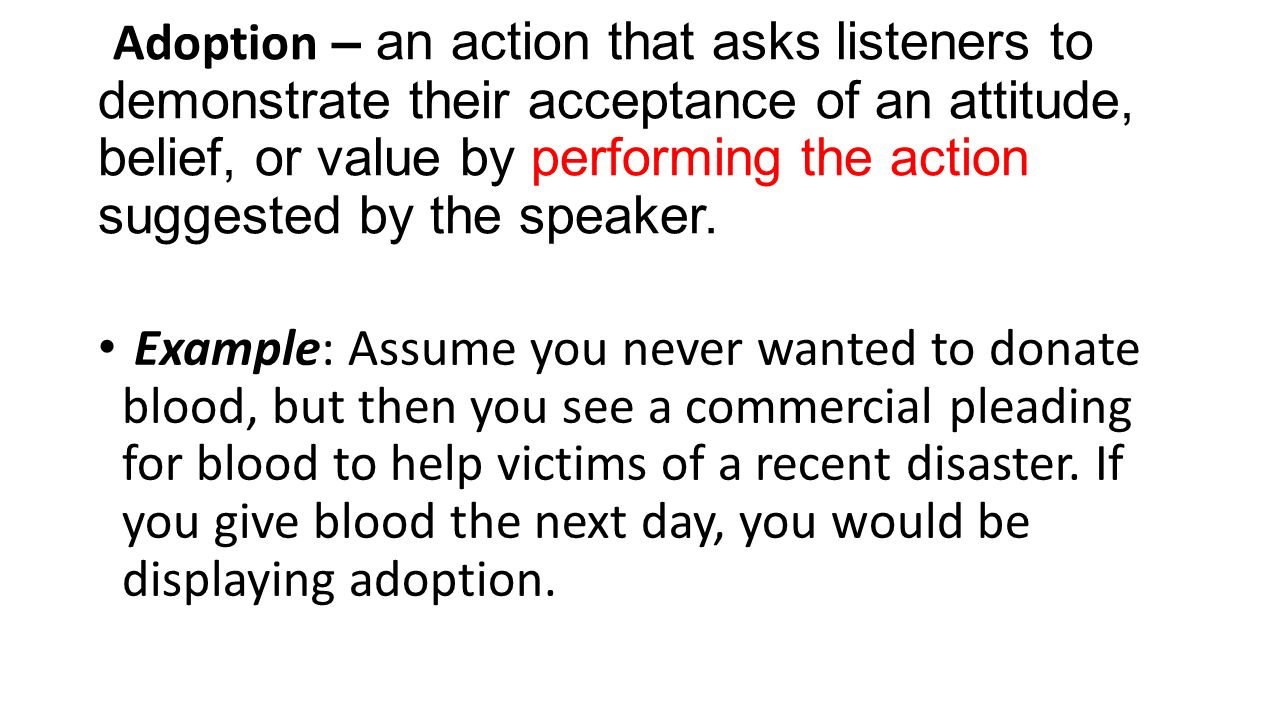 adoption persuasive speech