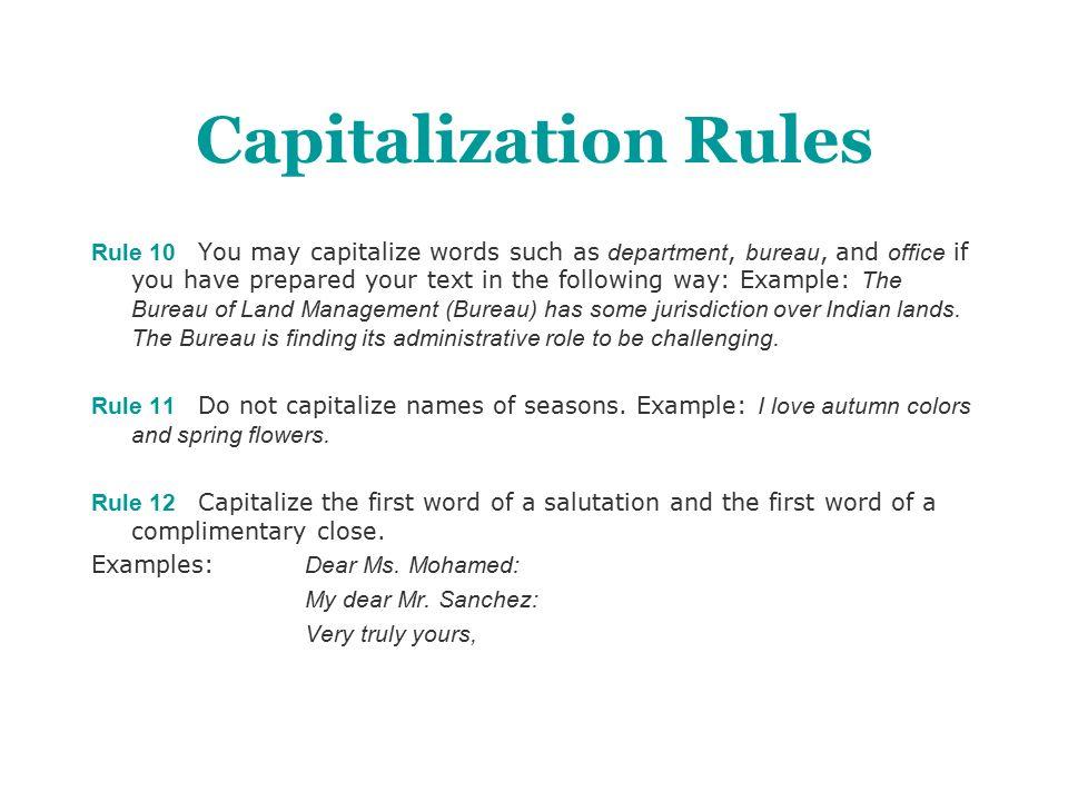 captilzation rules coles
