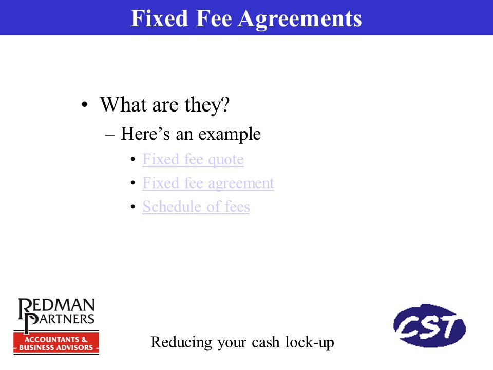Presented by peter johnson cpa cfp partner redman partners pty 6 fixed fee agreements platinumwayz