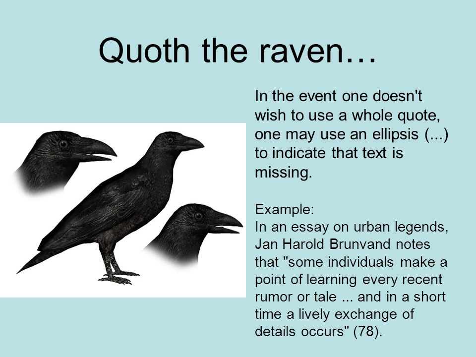comparitve analysis of the raven This one-page guide includes a plot summary and brief analysis of the raven by edgar allen poe once upon a midnight dreary the raven summary.