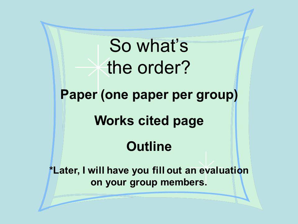 Evaluative essay outline