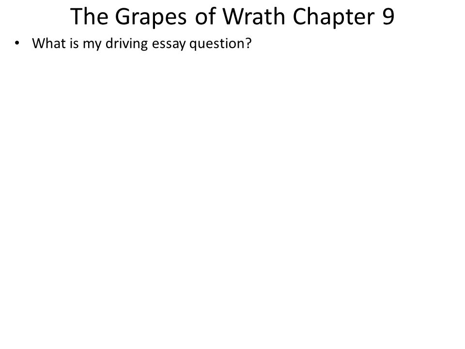 grapes of wrath family essay The grapes of wrath: essay q&a  his sacrifice is his continued life with his own biological family, given up in favor of life with the wider human family.