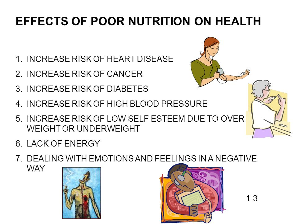 effects of bad eating habits How can the answer be improved.