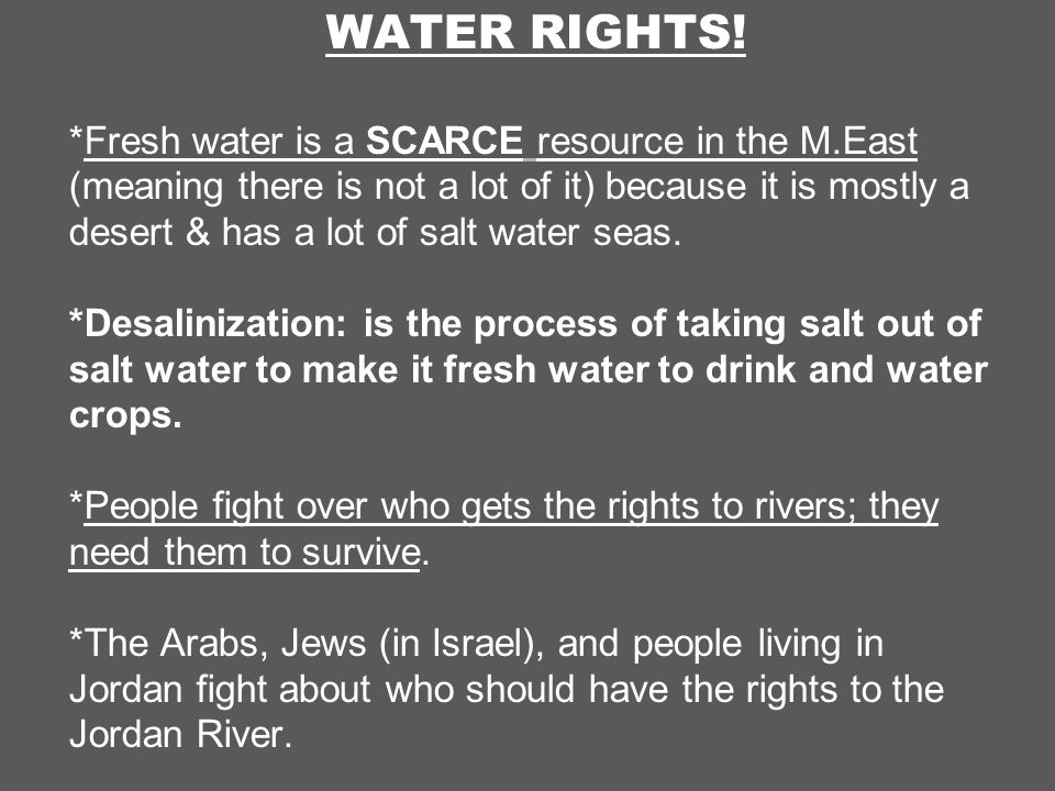 WATER RIGHTS.