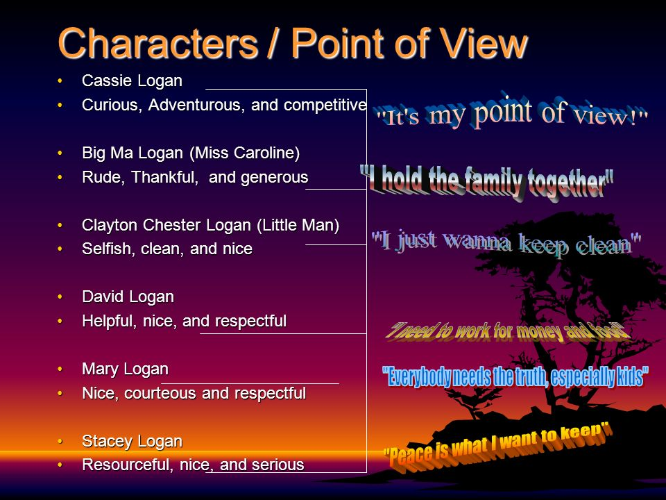 """Roll of Thunder Hear my Cry"""" By: Mildred D. Taylor - ppt download"""