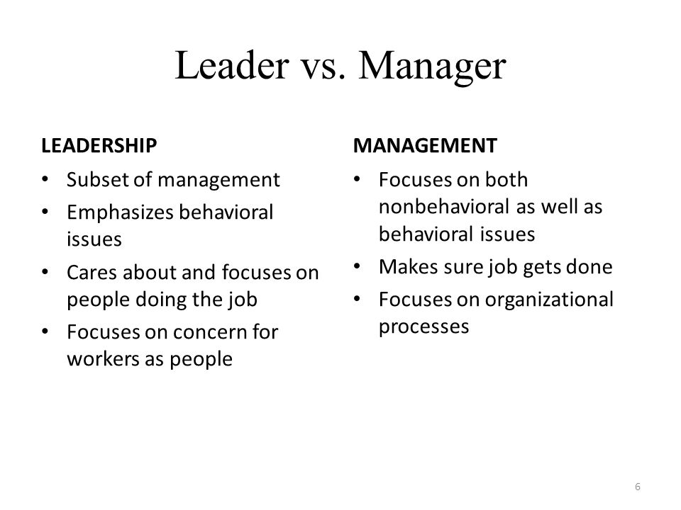 Effective Managers are also Leaders 7