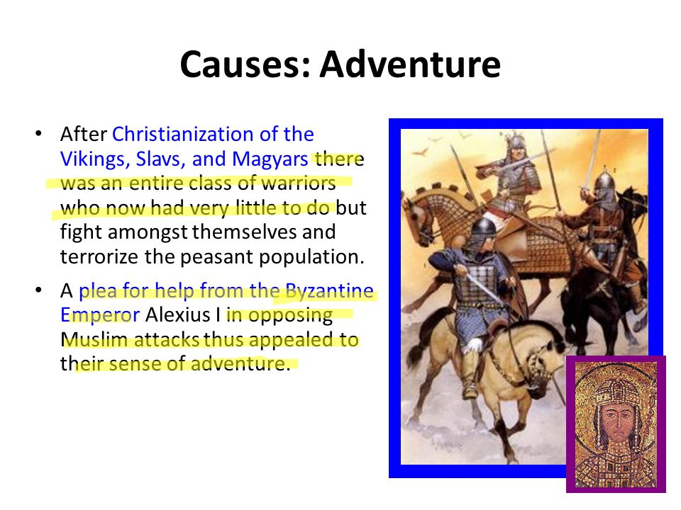 Crusades A long series or Wars between Christians and Muslims They fought over control of Jerusalem which was called the Holy Land because it was the region where Jesus had lived, preached and died