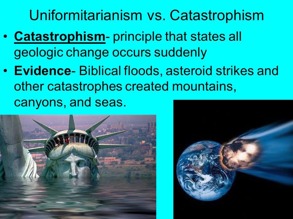 uniformitarianism vs catastrophism