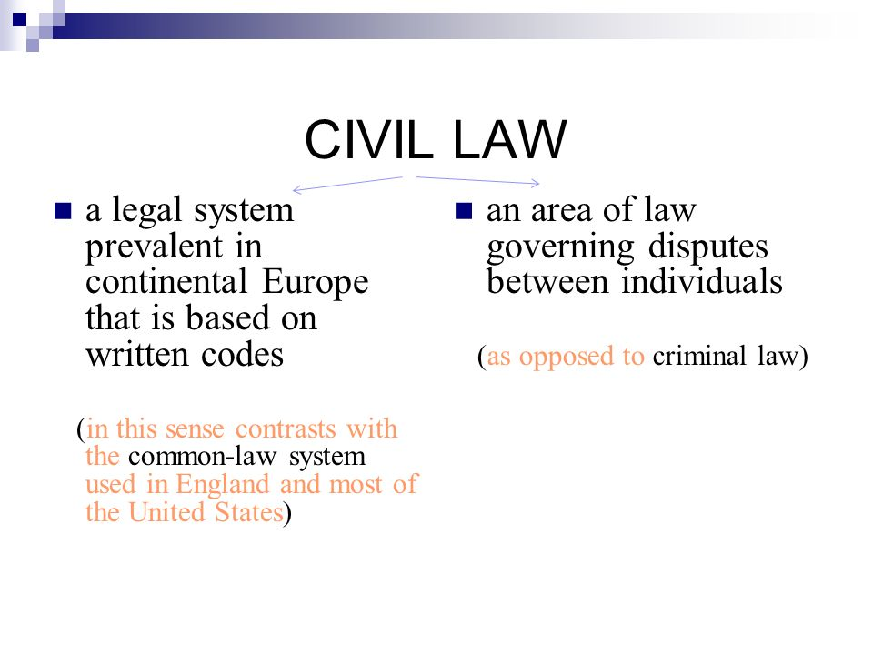 civil law legal system