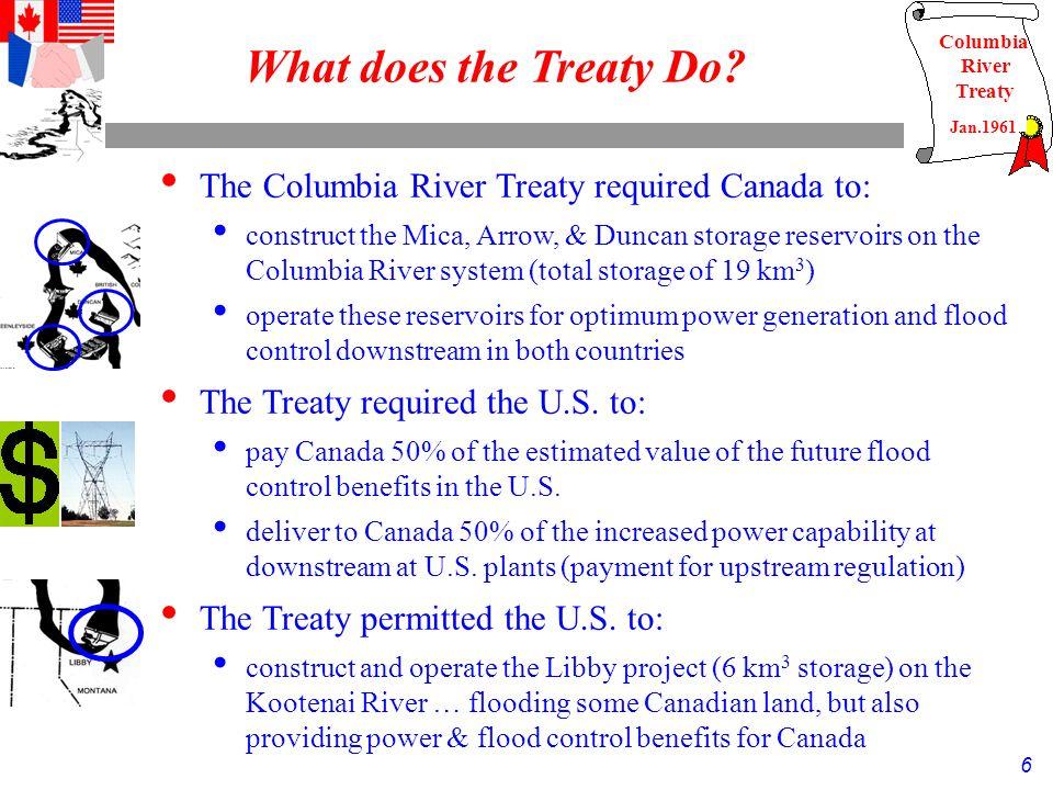 6 Columbia River Treaty What does the Treaty Do.