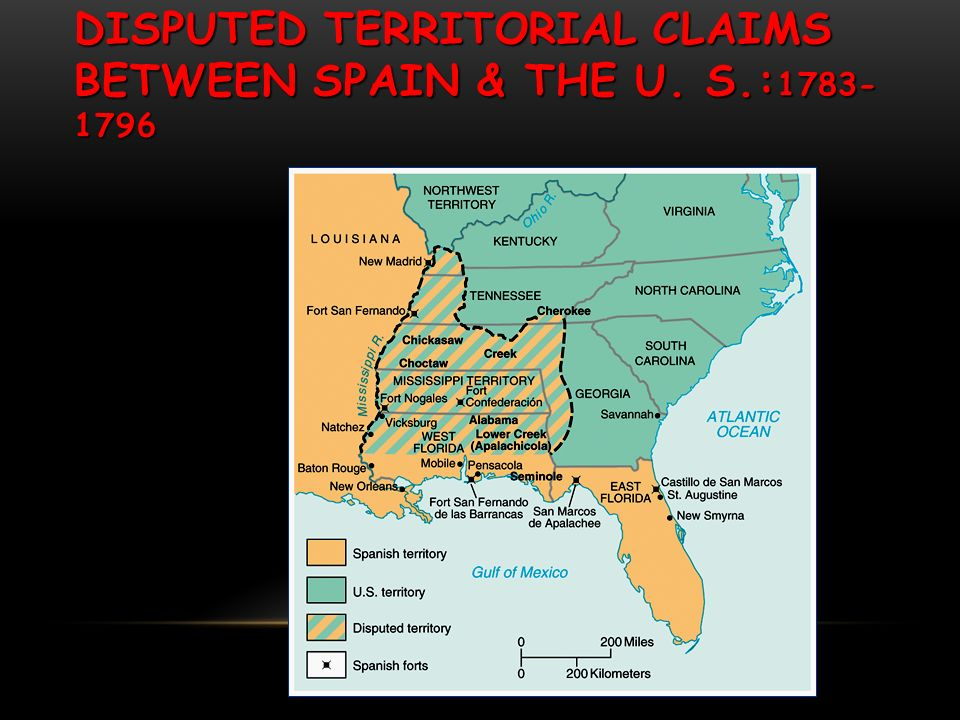 DISPUTED TERRITORIAL CLAIMS BETWEEN SPAIN & THE U. S.: