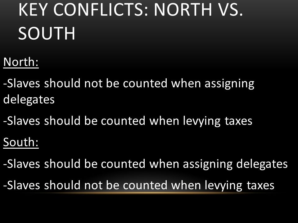 KEY CONFLICTS: NORTH VS.