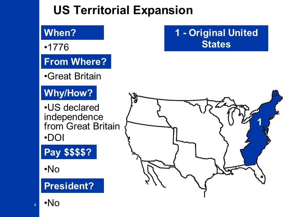 February Map Of Map Of US Territorial Expansion - Us map territorial expansion