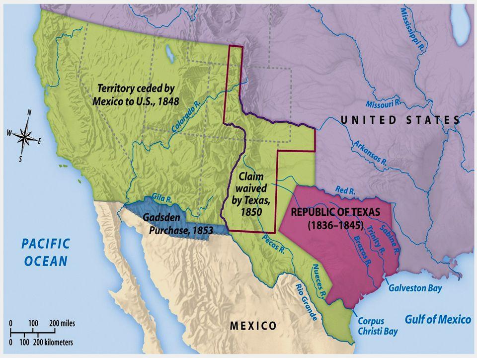 58 february 26 200158 eventual states california nevada utah arizona new mexico treaty of guadalupe hidalgo mexico ceded mexican cession to u s
