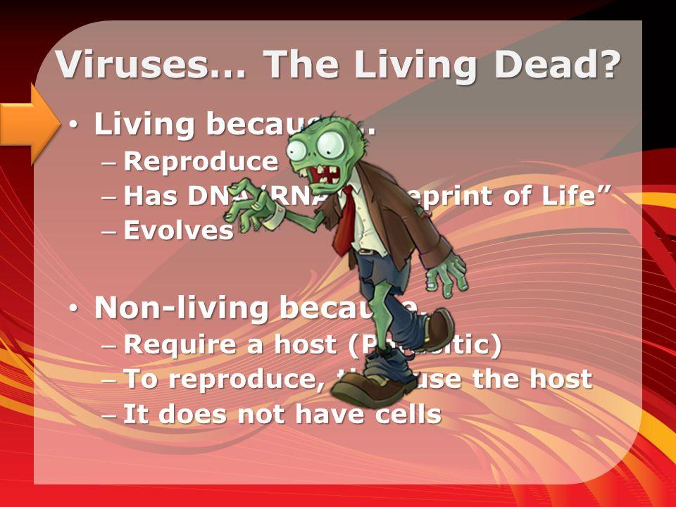 Viruses… The Living Dead.