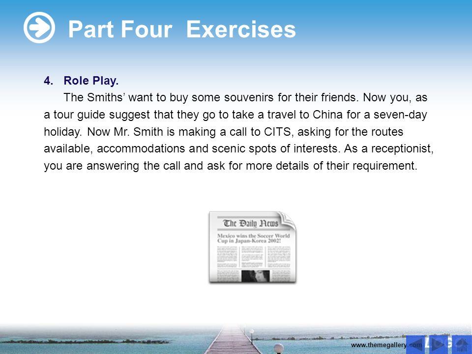 LOGO www.themegallery.com Part Four Exercises 1.