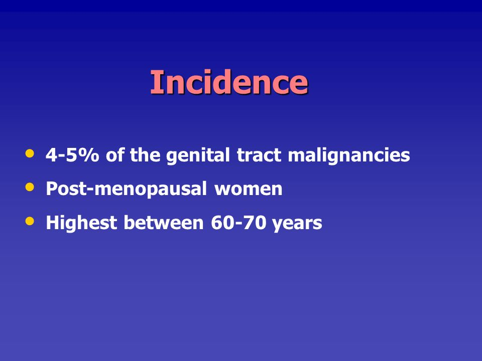 ETIOLOGY Still unknown, but certain associated etiological factors: Human Papilloma virus ( 16,18,31) Human Papilloma virus ( 16,18,31) Herpes Simplex Type II virus Herpes Simplex Type II virus Carcinoma cervix (20-50%) Carcinoma cervix (20-50%) Immune suppression Immune suppression