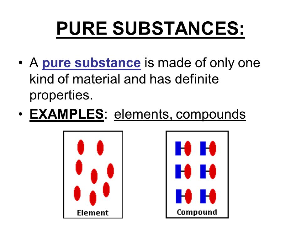 Matter Pure Substances Mixtures Elements Compounds Homogeneous Heterogeneous