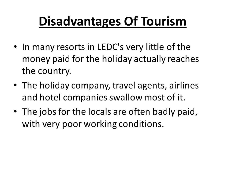 advantage and disadvantages of tourism