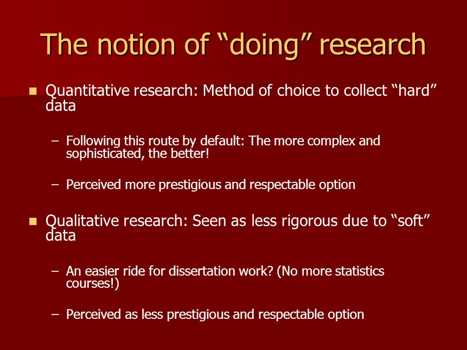 Dissertation Research Methodologydefinition