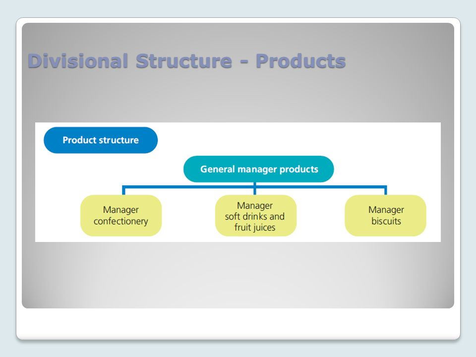 Divisional Structure - Products