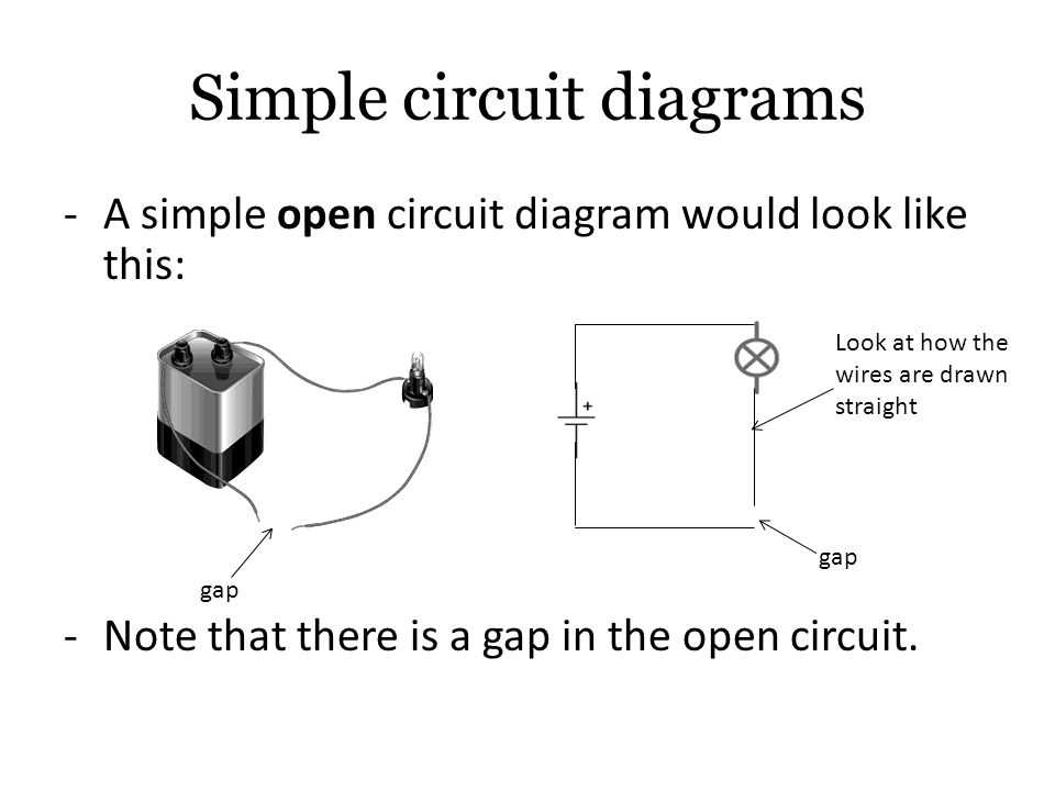 electricity uses closed and open circuits bulbs in parallel and  : open circuit diagram - findchart.co