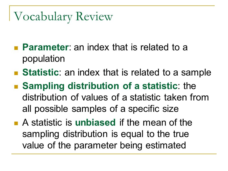 """Chapter 9: Sampling Distributions """"It has been proved beyond a ..."""