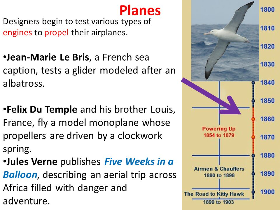 Planes Jean-Marie Le Bris, a French sea caption, tests a glider modeled after an albatross.
