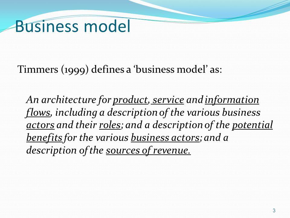 4 Business models Figure 2.11 Alternative perspectives on business models