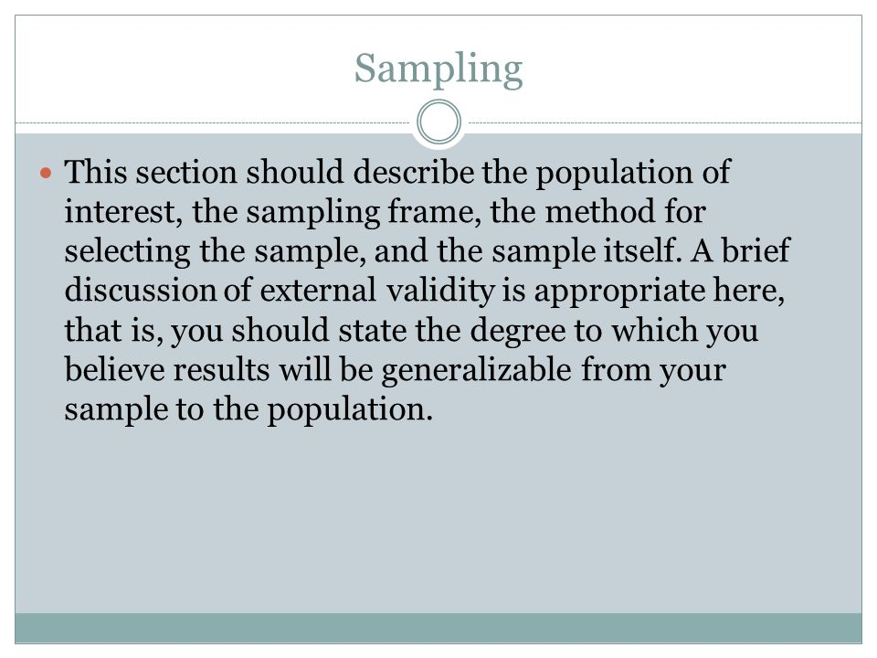 dissertation sampling frame The hcahps sampling protocol is designed should be included in the sample frame from which the survey sample is drawn.