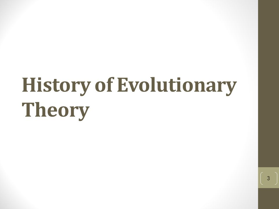 History of Evolutionary Theory 3