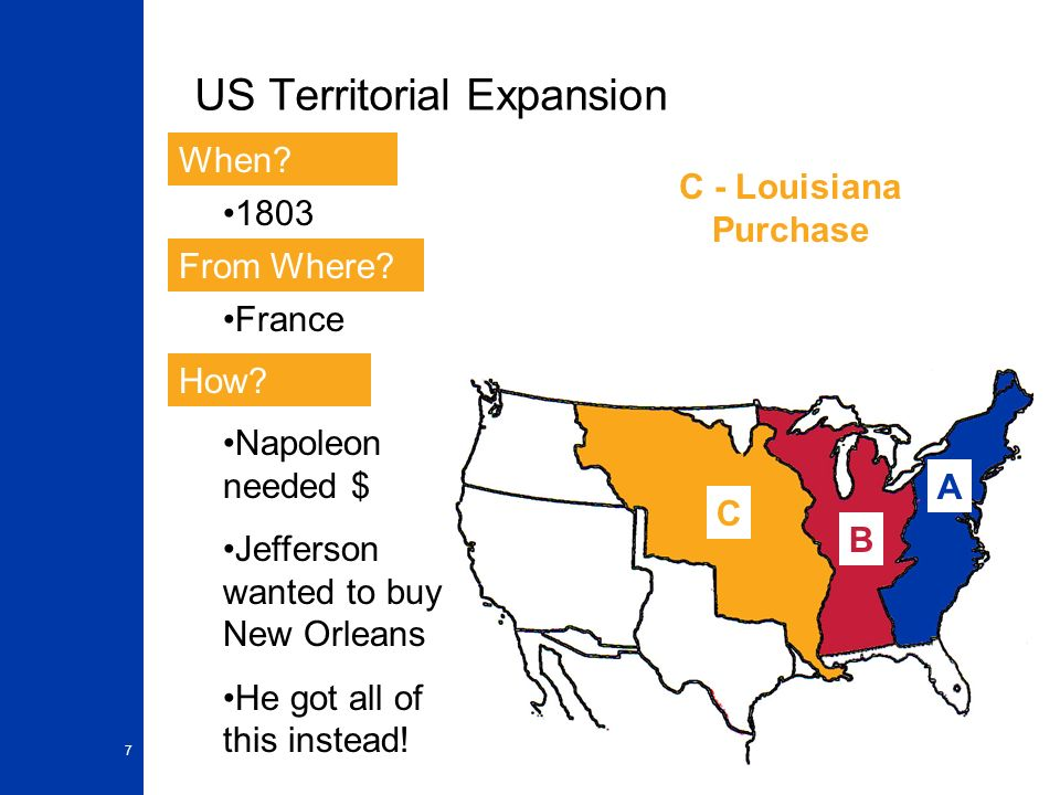 the objectives and impact of thomas jeffersons territorial expansion of the us The objectives and impact of thomas jefferson's territorial expansion of the us.