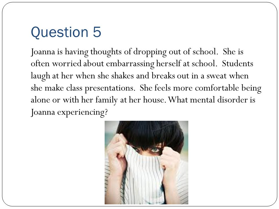 Question 4 Susan experiences periods of time when she feels very high on life.