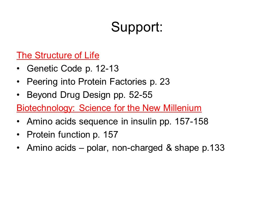 Agenda 11/27 Read The Structure of Life –The Genetic Code: pp ...