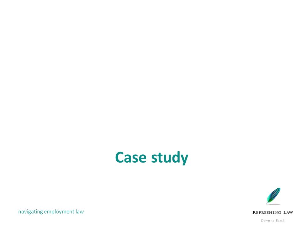 Employment Law Case Study