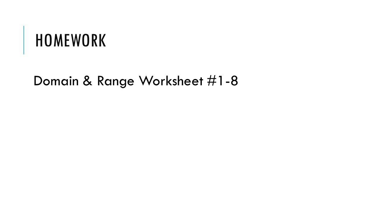 Worksheet Domain And Range Worksheet 1 Thedanks Worksheet For Everyone