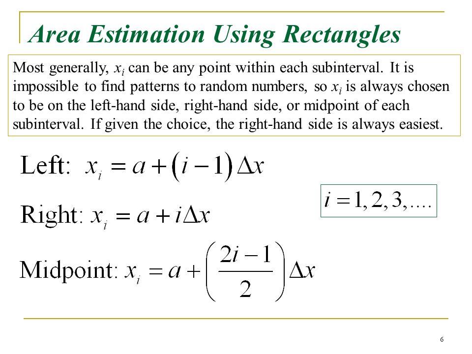 Right Riemann Sum Formula