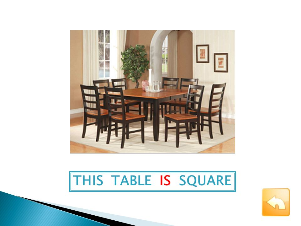 THIS TABLE IS SQUARE