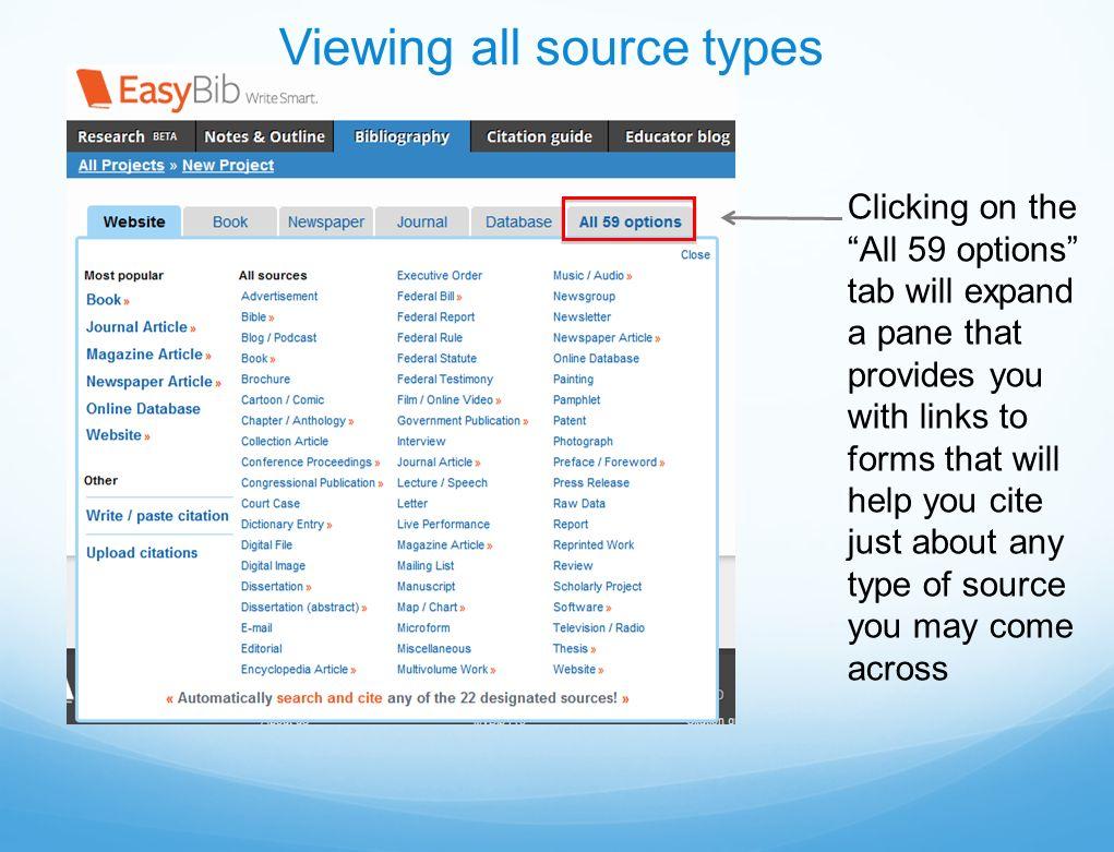 easybib research guide
